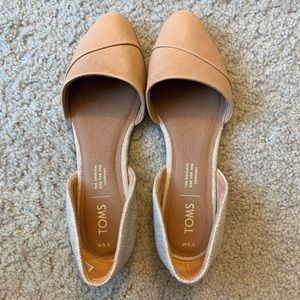 Toms Jutti D'orsay Flat 5.5 in Honey Leather